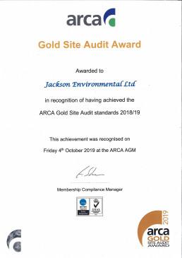 ARCA Gold Site Audit 2019
