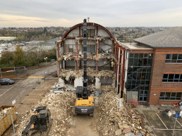 Demolition of Former Monarch HQ. Luton Airport